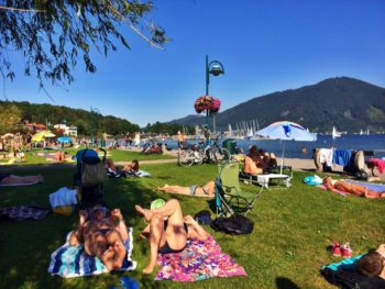 """The """"beach"""" on the Traunsee"""