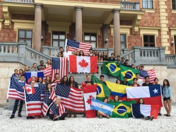 All of the Rotary Exchange Students at language camp